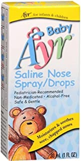 Ayr Baby Saline Nose Spray/Drops, 30 ml (Pack of 3)