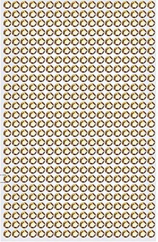 1404 Strasssteine selbstklebend Glitzersteine zum Aufkleben rund Glitzer Aufkleber 5mm groß Kristalle Dekosteine Bastelsteine in gold champagner