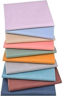 Tecido para costura, 10 peças de tecido de algodão feito à mão, patchwork, estilo nórdico, tecido de sarja de algodão esta...