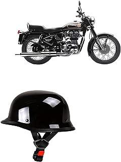 Adroitz Half Face Helmet for Bajaj Pulsar RS 200 (Black)