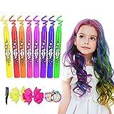 Haarkreide, ETEREAUTY 8 Farben Auswaschbar Haarkreide Temporäre Haarfarbe für Kinder Mädchen,...