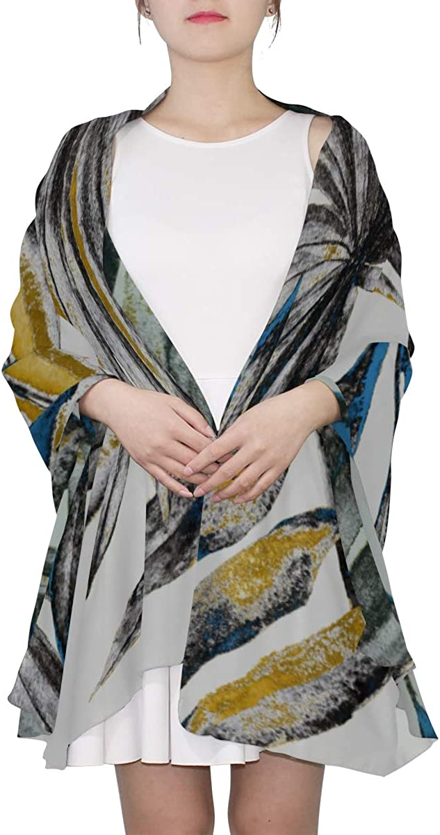 Lightweight Fashion Scarf Watercolor Tropical Tree Leaf Large Womens Scarf Hair Scarf For Women Lightweight Print Scarves Thin Scarfs For Women Lightweight Scarfs For Men Lightweight