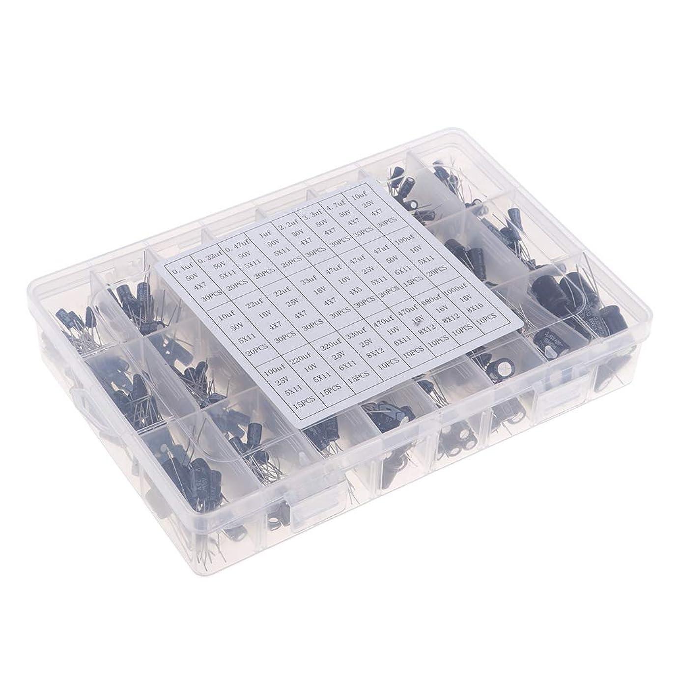 最愛の絶対におびえた約500個 24種 電解コンデンサ 0.1 uf-1000uf 電子工作基本部品セット 実用的