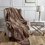 softan Flanell Fleece Decke Solid Velvet Plüsch Überwurf für Bett Couch Sofa Throw 130x150cm Leopard