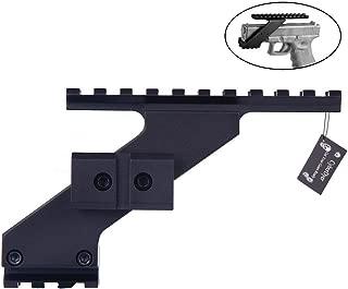 CyberDyer Universal Pistol Handgun Scope Mount Adapter Fits for Weaver Picatinny Rail Glock 17 19 20 22 23 30 32