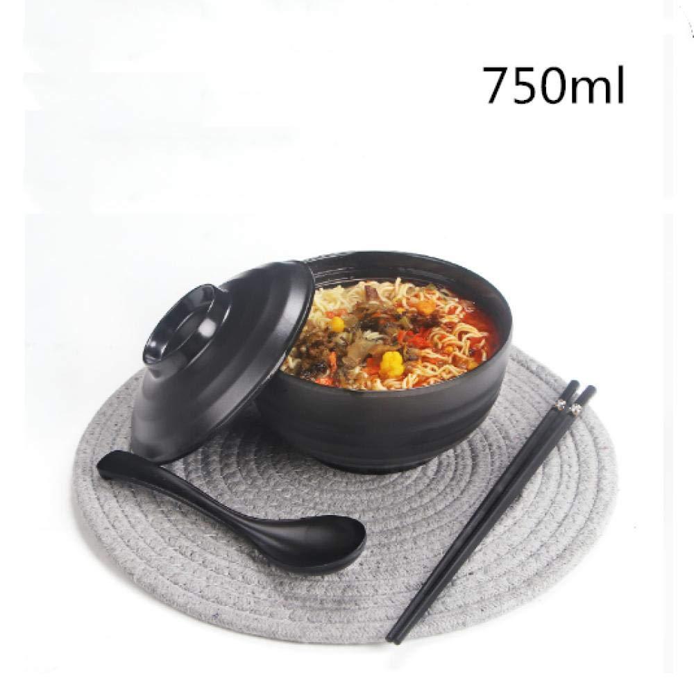 Tazón de Sopa de Ramen Japonés Cubiertos de Plástico Duro de Melamina Con Cuchara a Juego y Palillos Para Fideos Udon Fideos Soba Fideos Asiáticos: Amazon.es: Hogar