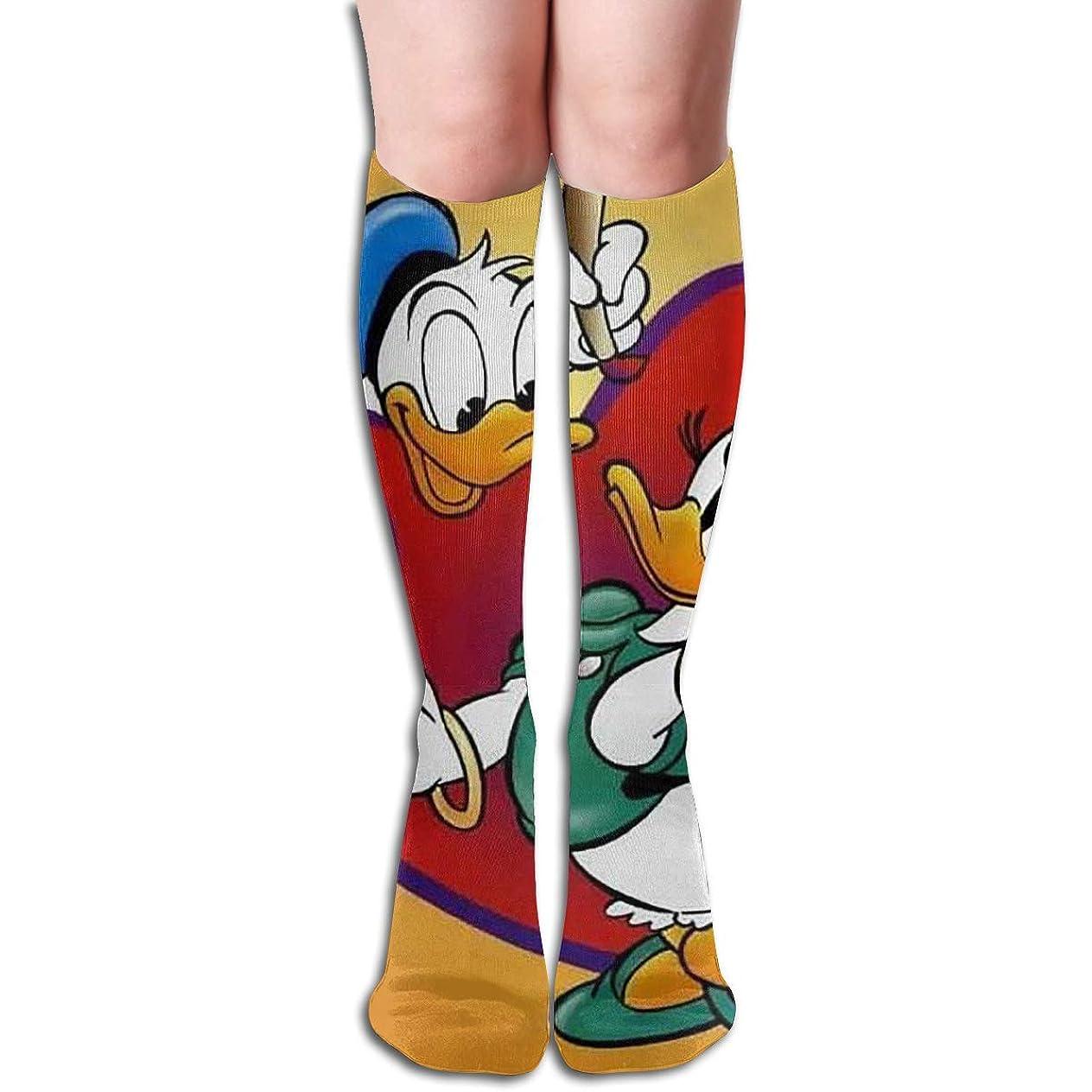 高速道路マイルストーンアーティキュレーションチューブのストッキングは、女性のウィンター暖かい膝ハイソックスブーツ靴下を愛する