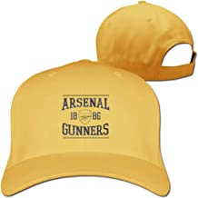 Ruige Hongke Arsenal FC Gunners Adjustable Hip Hop Hat for Men Women's,Yellow