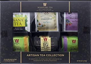 Wissotzky Artisan Collection Assorted Artisan Tea Bags (42 Individually Wrapped Tea Bags, 6 Flavors) Elegant Tea Chest, Gr...