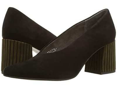 Seychelles Make An Entrance (Black/Olive Striped Suede) Women
