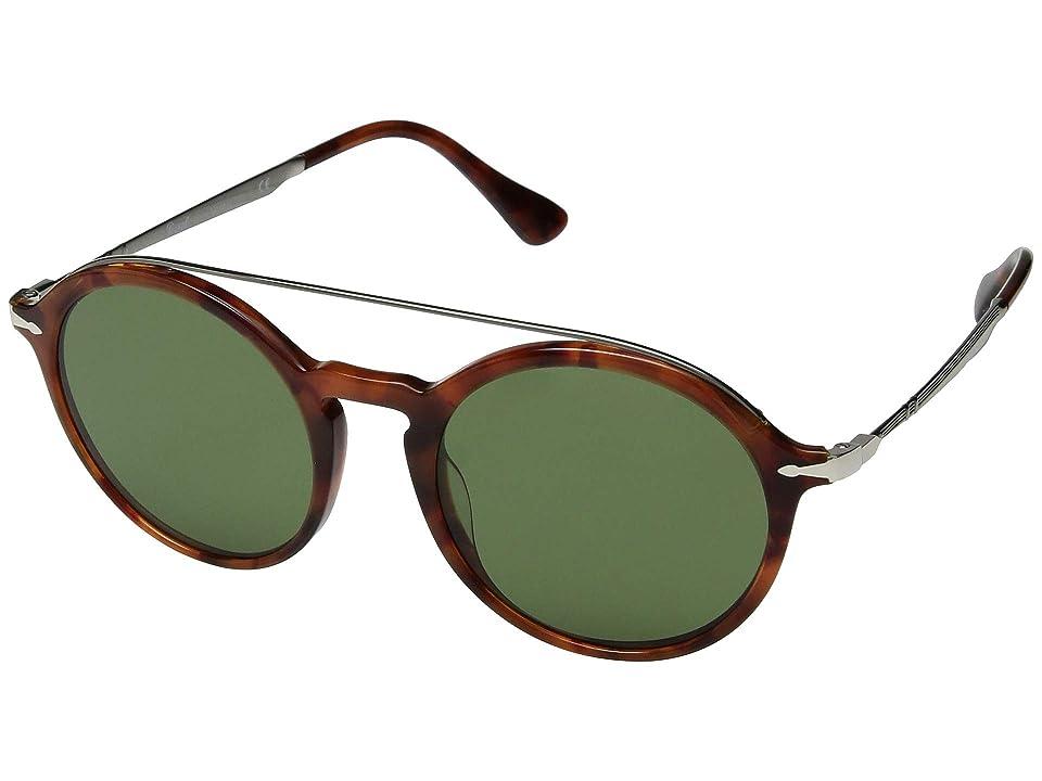 Persol 0PO3172S (Tortoise Brown/Green) Fashion Sunglasses