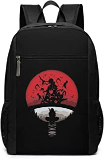 Mochila Mochila de Viaje ClanMashup with Itachi Mangekyou Sharingan Sasuke Backpack Laptop Backpack School Bag Travel Backpack 17 Inch