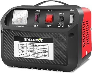 comprar comparacion GREENCUT CRB300 - Cargador de batería de coche y moto multifunción de 12V/24V y 30A, cargador con opciones de Carga Rápida...