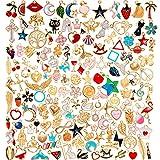 150 Piezas Colgantes de Dijes de Esmalte Surtidos Colgante de Luna Estrella Animal Fruta Encantos de Collar Pulsera para Fabricación de Joyas de Bricolaje (Estilo Lindo)