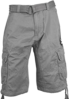 Knockout Men's Cargo Shorts with Belt Regular and Big and Tall Sizes