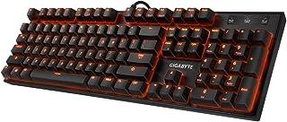 Gigabyte GK-Force K85 USB QWERTY Negro - Teclado (Alámbrico, USB, Interruptor mecánico, QWERTY, LED RGB, Negro)