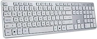 لوحة مفاتيح لاسلكية فائقة الدقة من BFRIENDit - مفاتيح بلون الشوكولاتة الهادئة 2.4 جيجا هرتز وصلة رفيعة لاسلكية للكمبيوتر و...