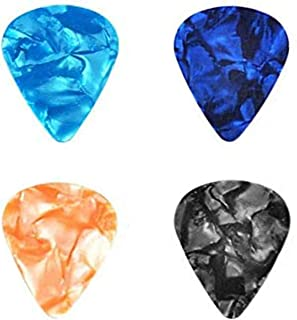 4pcs Guitar Picks for Electric, Acoustic, or Bass Guitar including 0.46mm 0.71mm 0.96mm 1.2mm