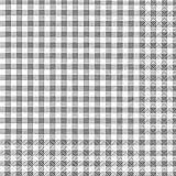 20 servilletas a cuadros gris/atemporales 33 x 33 cm
