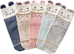 ZAKASA Femmes mignonnes belles chaussettes confortables d/équipage de coton de conception mignonne de chat EU 35-41