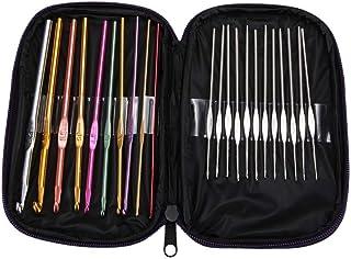 Tricot Et Crochet Crochet crochets Set et le sac de poignée souple en aluminium de fil à tricoter Aiguilles à coudre Kits ...