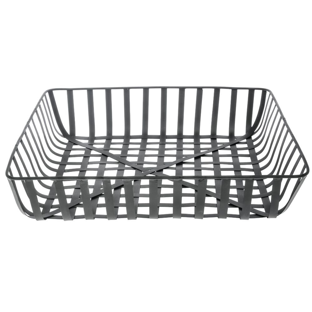 Metal Tobacco Basket Square Black Max 63% OFF - x 5 18