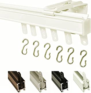 Kirsch 94003 Hand Draw Wall Mount Curtain Track Set (4'-White)