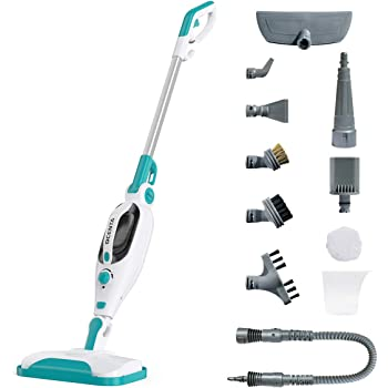 Dcenta Steam Mop Cleaner,12 in 1 Convenient Detachable Handheld Steam Cleaner for Hardwood,Tiles,Carpet with Multifunctional Tools,1500W Handheld Steamer for Home,Kitchen,Garment