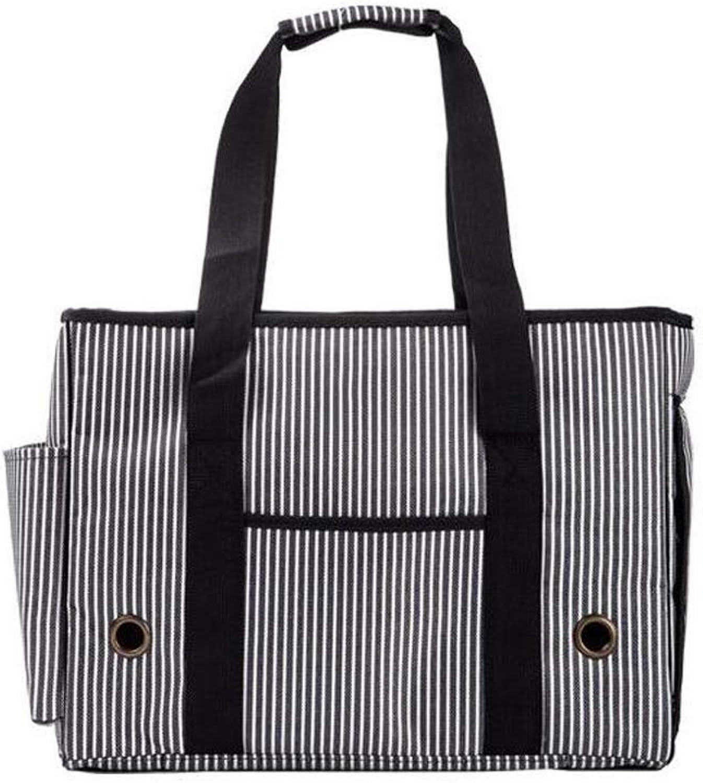 FJH MultiFunction Pet Bag Air Bag Cat Dog Striped Bag Small Dog Out of The Shoulder Bag Pet Backpack (Size   S)