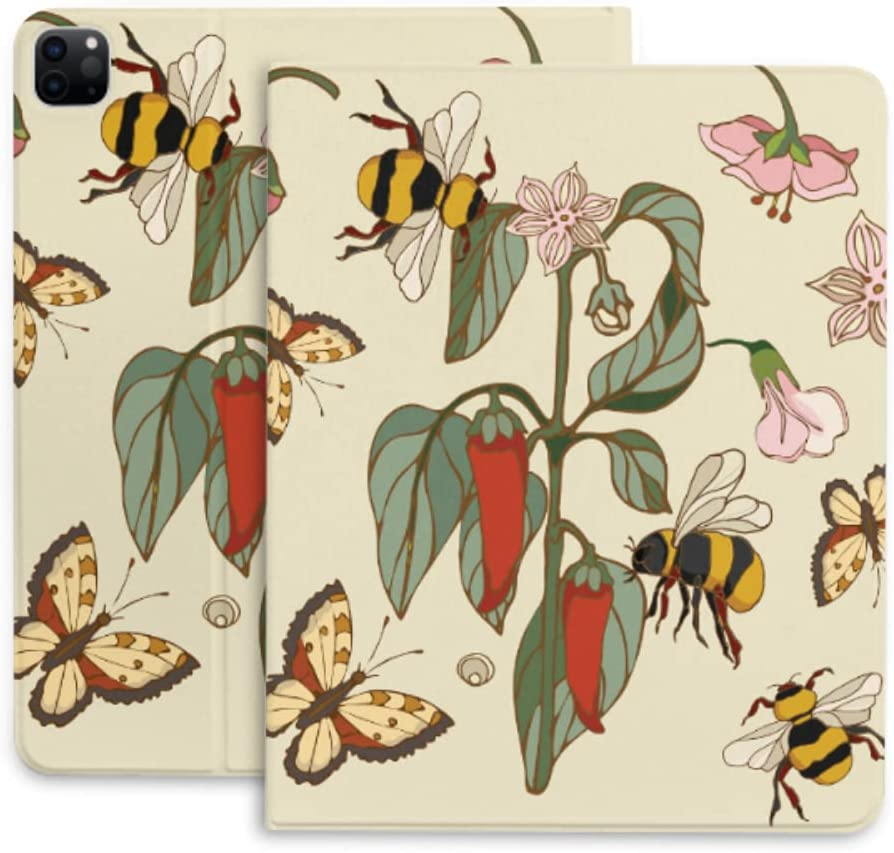 Japan Maker New Case Max 84% OFF for Ipad Pro 12.9 Pepper Elements Botanical Butte Bumblebee