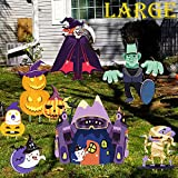 Wironlst 8 Pack Halloween Yard Sign with Stakes for Holiday Lawn Yard