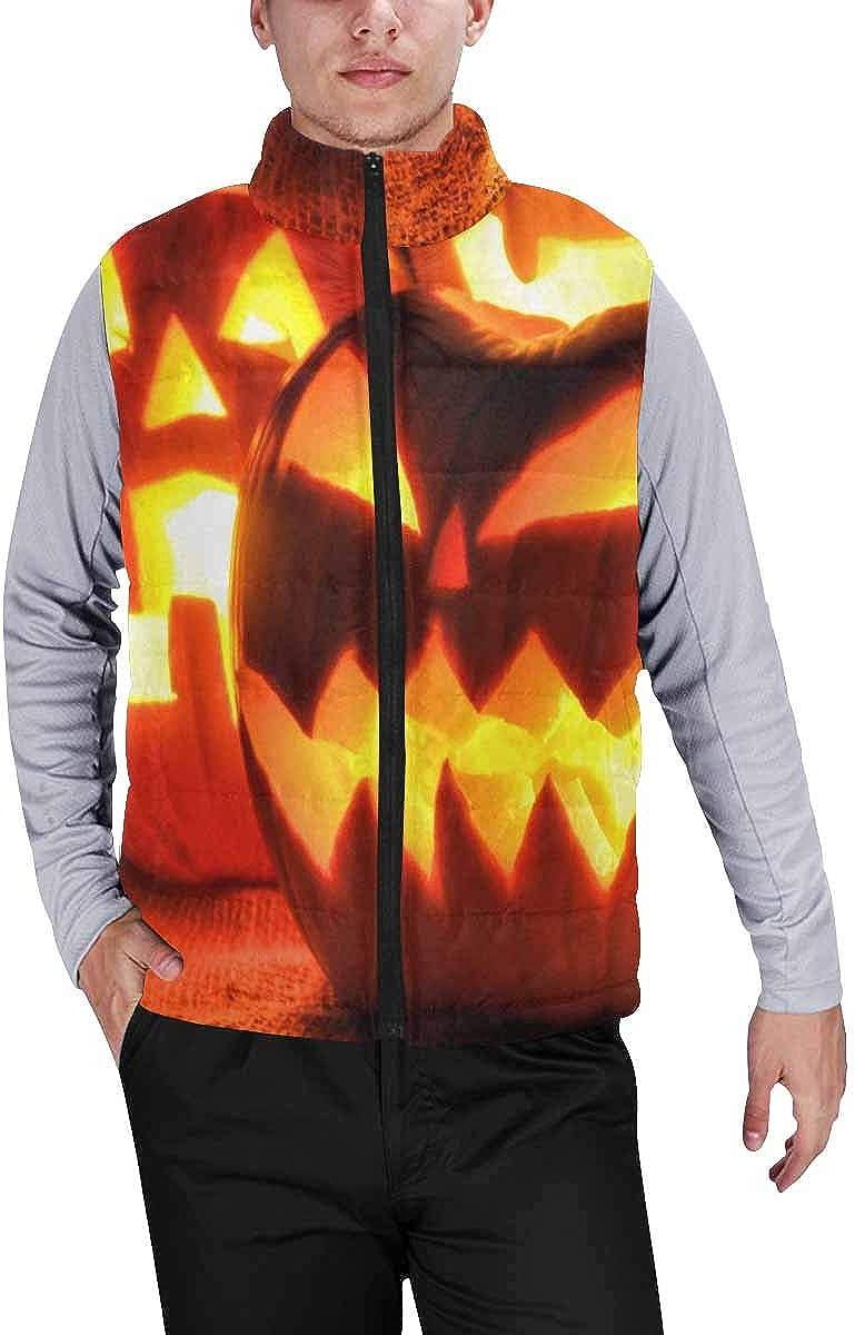 InterestPrint Winter Lightweight Personality Design Padded Vest for Men Some Musical Notes on Dark Background