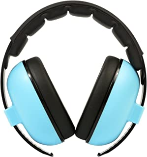 Newkiton 子供用防音イヤーマフ 遮音値27dB 折りたたみ式 耐摩素材 超弾力性 建設作業 聴覚過敏 騒音対策 射撃 等様々な用途に (青)