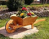 holzdekoladen Plantación de Carretilla Cesta de Flores Carretilla De Madera - Tipo 1 Grande