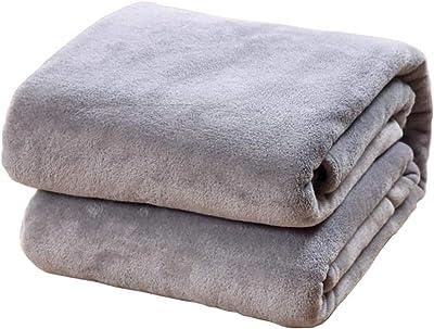 b77980cdda ZebraSmile Solid Color Delicate Edge Cover Fleece Flannel Soft Comfort Full  Size 230GSM Lightweight Easy Care