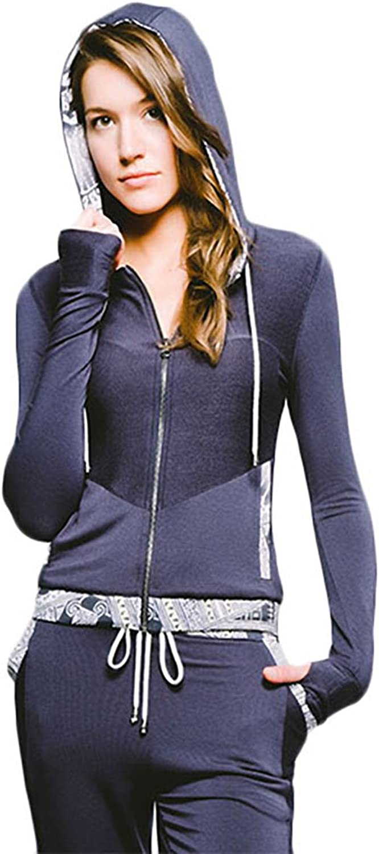 Joriki Women's Lightweight Full Zip Drawstring Hoodie Track Jacket with Thumb Holes Sweatshirt