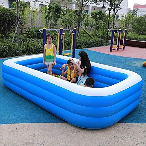 Piscina Inflable, Rectangular Familia, Resistente PVC portátil al Aire Libre de Interior - Apto for niños de Adultos (Tamaño: 269 * 177 * 61cm) (Size : 269 * 177 * 61cm)