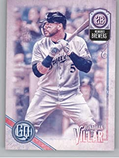 2018 Topps Gypsy Queen Missing Black Plate Baseball #55 Jonathan Villar Milwaukee Brewers Official MLB Trading Card From Topps