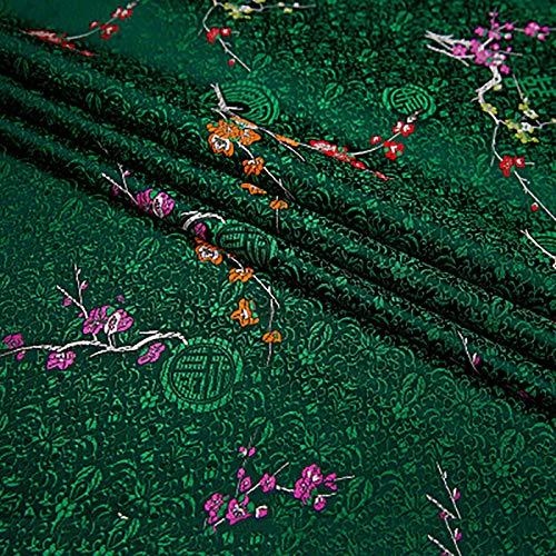 MUYUNXI Tela De Raso Forro De Tela para Vestidos De Novias Fundas Artesanías Vestidos Blusas Ropa Interior 75 Cm De Ancho Vendido por 2 Metro(Color:Verde Oscuro)