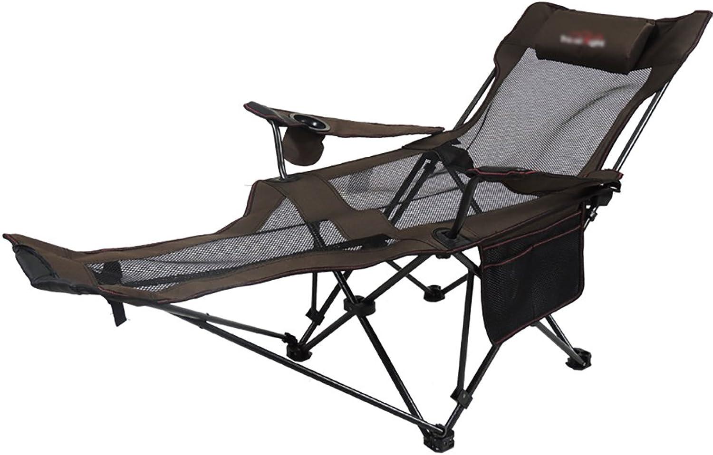Lightweight Folding Deck Chair Napping Office Lunch Break Chair Outdoor Lounge Chair High Backrest Adjustment Recliner