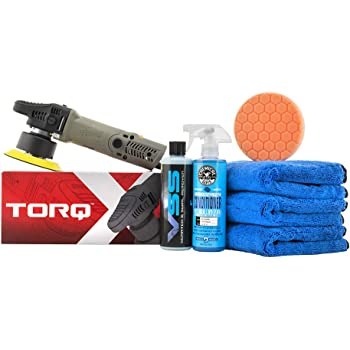 Chemical Guys BUF612 TORQX Random Orbital Polisher ONE-Step Scratch and Swirl Remover KIT (7 Items)
