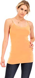 Women's Basic Longline Cami with Adjustable Straps Tank Tops (S - 3XL)