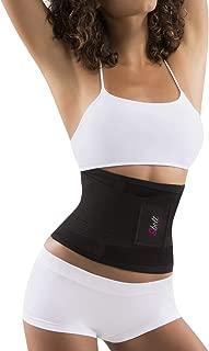 Sbelt Thermal Waist Trainer Slimming Belt – Women's Slimming Body Shaper Trimmer for an Hourglass Shape (Black, Small/Medium)