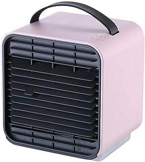 DingM Domésticos Ventiladores de enfriamiento rápido, Aire Acondicionado Mini-humidificador de Limpieza de radiadores portátiles, Espacio Personal Ventilador Ventilador,Pink