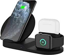$29 » Wireless Charger, 3 in 1 Wireless Charging Station for AirPods Pro, iPhone and iWatch, QI Certified Fast Wireless Charging Dock Compatible with iPhone 11/11 Pro/11 Pro Max/X/XS/XS Max/XR/8/8 Plus