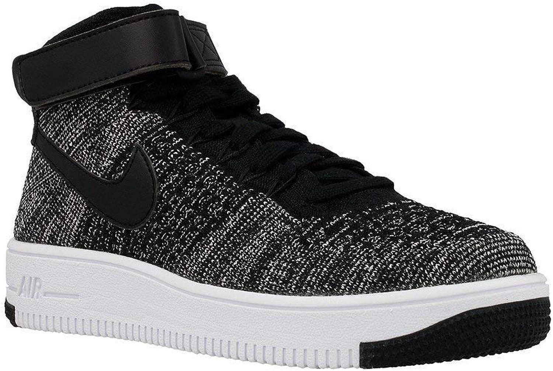 Nike Kid's AF1 Ultra Flyknit Mid GS, schwarz schwarz-Weiß, Youth Größe 7