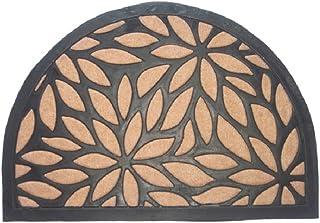 "Imports Decor 866SMT Synthetic Half Round Door Mat, 16"" x 24"", Brown"