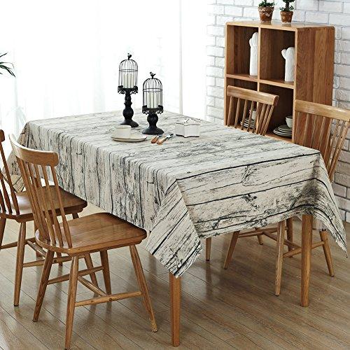DIDIFU Nappe Lin, Vintage Style napperon Table Basse rectangulaire Anti Tache Étanche à la poussière pour Décoration de Maison et Cuisine (140x200 cm, Vintage Style)