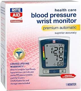 Rite Aid Blood Pressure Wrist Monitor Premium Automatic Superior, 1 Count