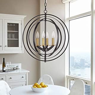 black and gold orb chandelier